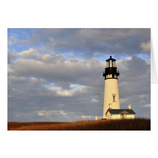 Oregon Lighthouse Greeting Card