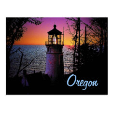 Oregon Lighthouse Postcard at Zazzle