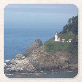 Oregon Lighthouse Square Paper Coaster