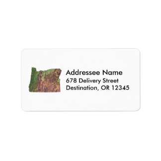 Oregon Map Address Label