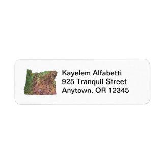 Oregon Map Address Label