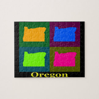 Oregon Map Jigsaw Puzzle