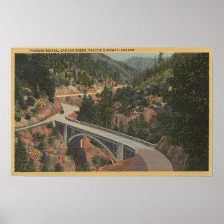 Oregon meridional - puente pionero, cala del barra posters