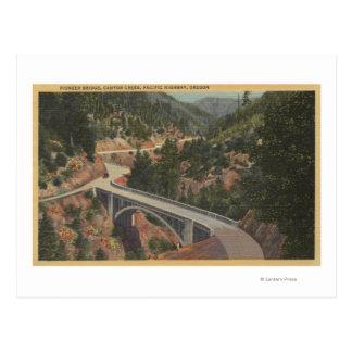 Oregon meridional - puente pionero, cala del tarjeta postal