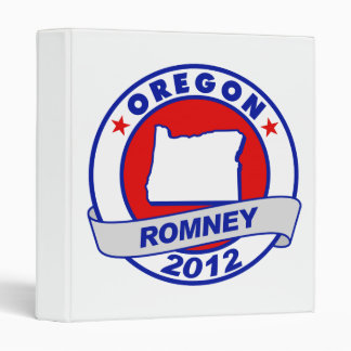 Oregon Mitt Romney 3 Ring Binder