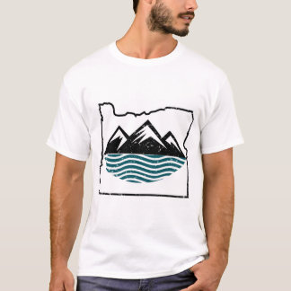 Oregon mountains and waves T-Shirt