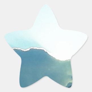 Oregon moutains star sticker