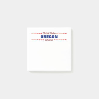 OREGON - My Home - United States; Hearts Post-it Notes