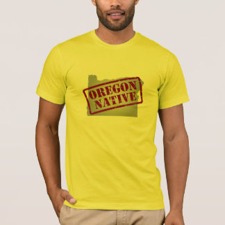 Oregon Native Stamped on Map T-Shirt