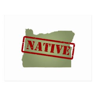 Oregon Native with Oregon Map Postcard
