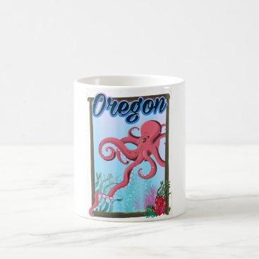 USA Themed Oregon Octopus travel poster. Coffee Mug