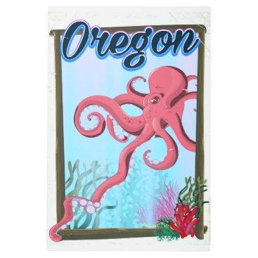 USA Themed Oregon Octopus travel poster. Metal Print