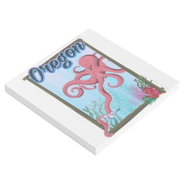 USA Themed Oregon Octopus Vacation poster. Gallery Wrap