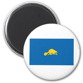 Oregon  Official State Flag Reverse 2 Inch Round Magnet