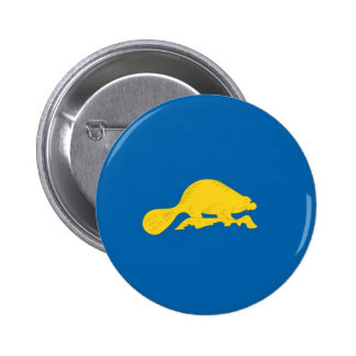 Oregon  Official State Flag Reverse Button