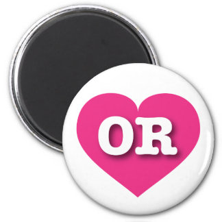 Oregon OR hot pink heart Refrigerator Magnet