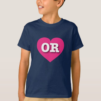 Oregon OR hot pink heart T-Shirt