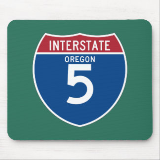 Oregon OR I-5 Interstate Highway Shield - Mouse Pad