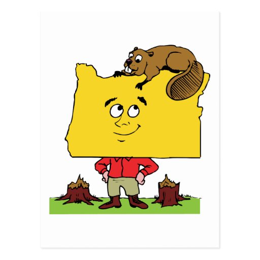 Oregon OR Oregonian Logger Lumberjack Souvenir Postcards