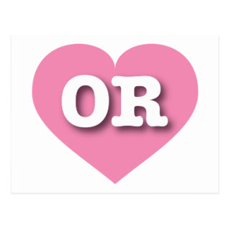 Oregon OR pink heart Postcard