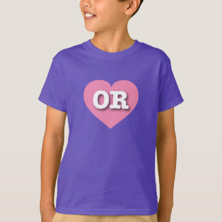 Oregon OR pink heart T-Shirt