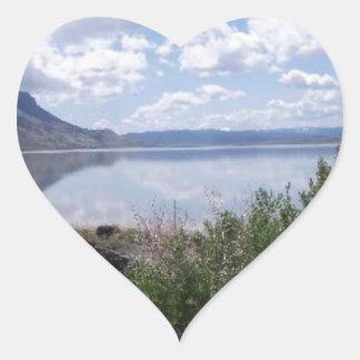 Oregon Outback Lake Abert Heart Sticker