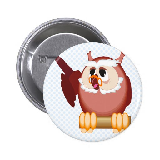 Oregon Owl Pinback Buttons