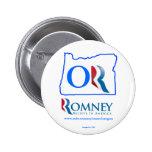 Oregon para el botón 2 de Mitt Romney Pins