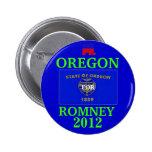Oregon para Romney 2012 Pin