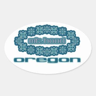 Oregon Pegatina Ovalada