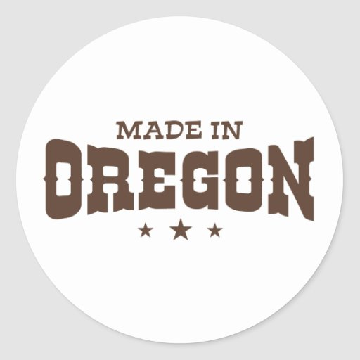 Oregon Pegatina Redonda