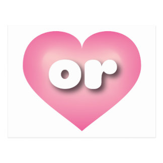 oregon pink fade heart - mini love postcard