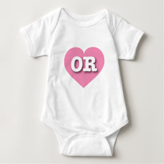 Oregon Pink Heart - Big Love Baby Bodysuit