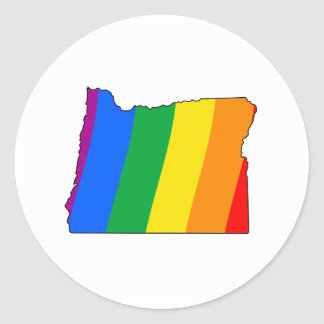 OREGON PRIDE CLASSIC ROUND STICKER