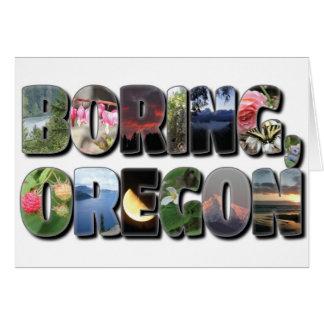 Oregon que agujerea tarjeta de felicitación