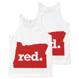 OREGON RED STATE All-Over PRINT TANK TOP
