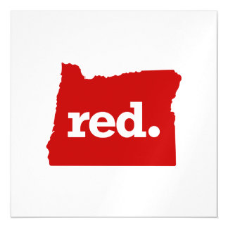 OREGON RED STATE MAGNETIC CARD