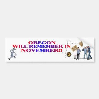 Oregon - Return Congress To The People!! Bumper Sticker