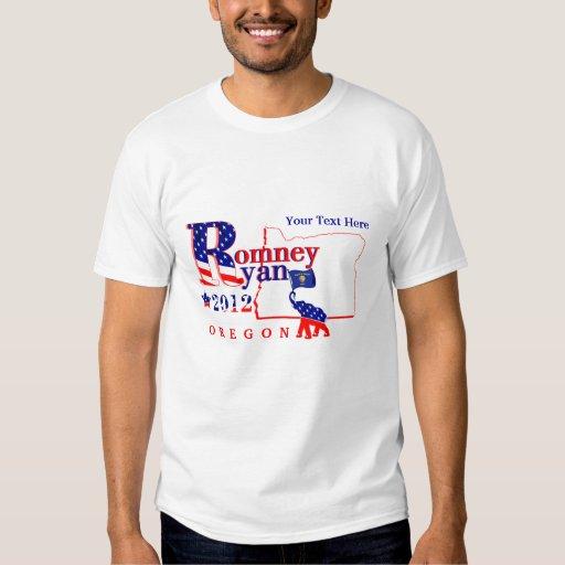 Oregon Romney y camiseta 2012 de Ryan 2 Playeras