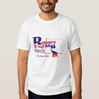 Oregon Romney y camiseta 2012 de Ryan Playeras