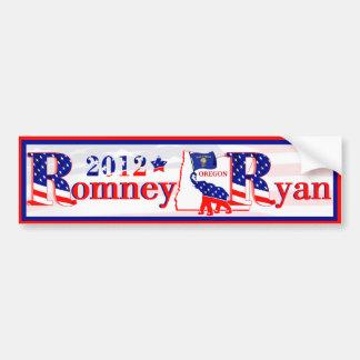 Oregon Romney y pegatina para el parachoques 2012  Pegatina Para Auto