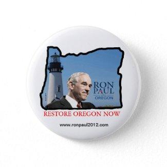 Oregon Ron Paul button button
