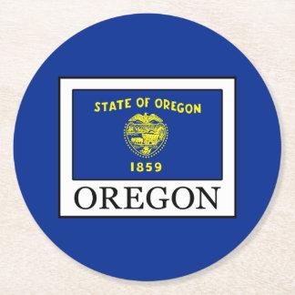 Oregon Round Paper Coaster