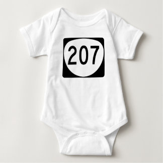 Oregon Route 207 Baby Bodysuit
