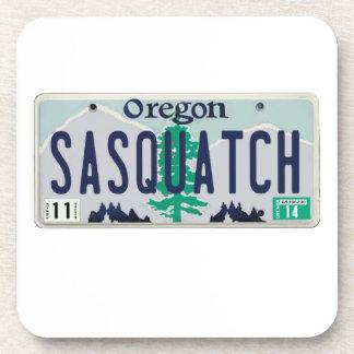 Oregon Sasquatch License Plate Beverage Coaster