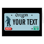 Oregon Sasquatch License Plate Greeting Card
