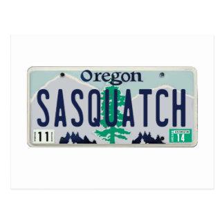 Oregon Sasquatch License Plate Post Cards