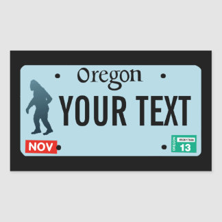 Oregon Sasquatch License Plate Rectangle Sticker