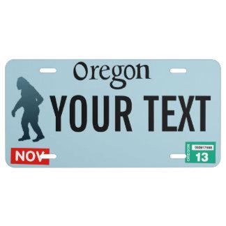 Oregon Sasquatch Placa De Matrícula