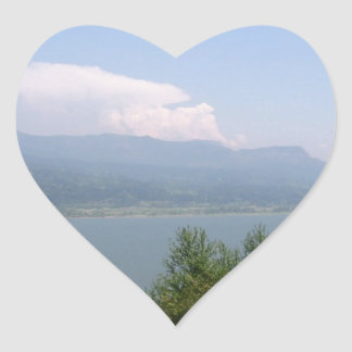 Oregon Scene Heart Sticker